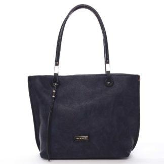 Luxusní dámská kabelka šedá modrá - Pierre Cardin Comtesa barevná