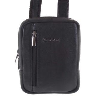 Praktická kožená kabelka černá - Pierre Andreus Aron černá