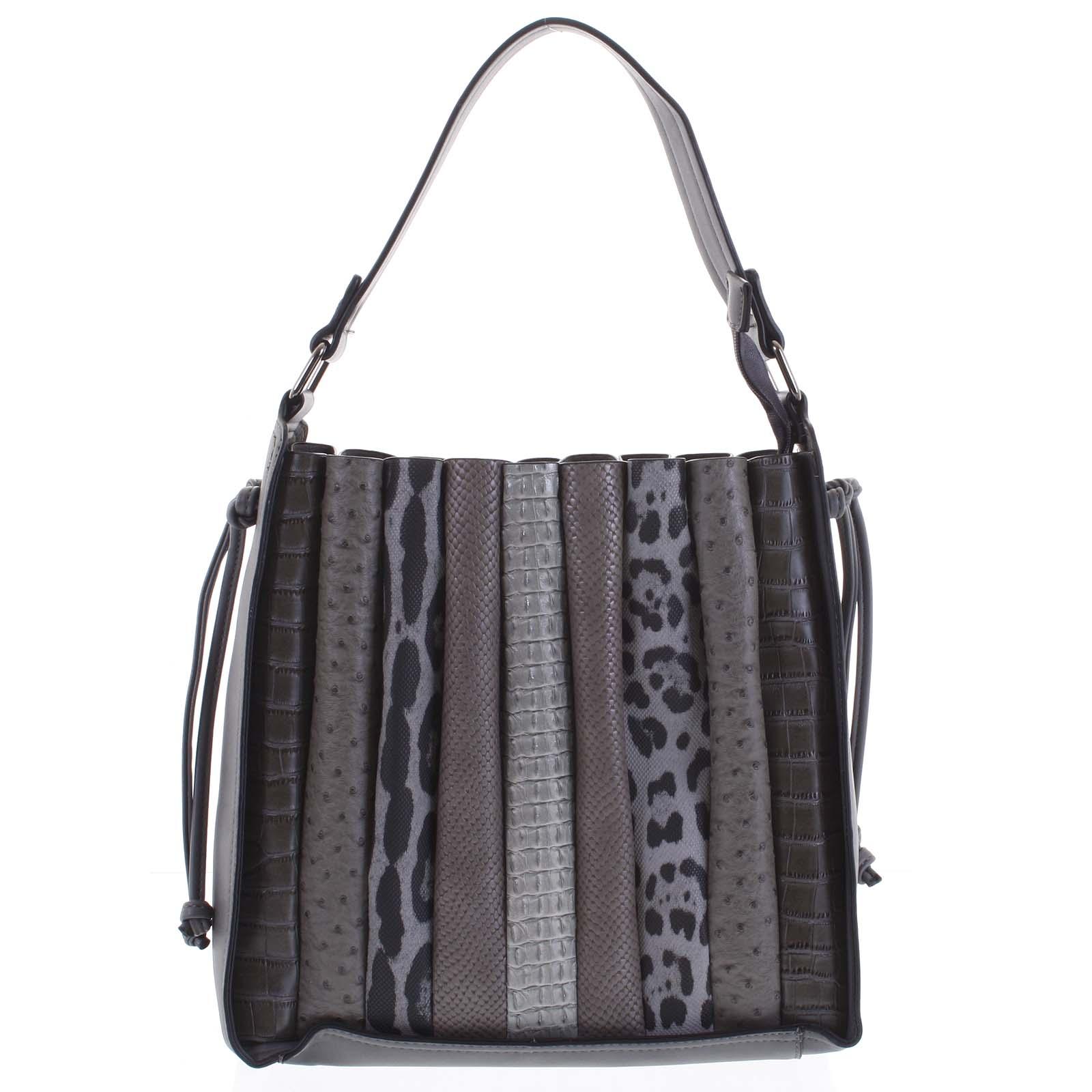 Dámská kabelka přes rameno tmavě šedá - Dudlin Pruet šedá