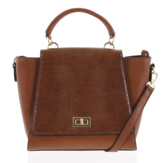 Dámská kabelka do ruky světle hnědá - Dudlin Mirla hnědá