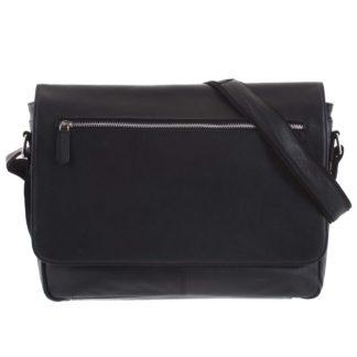 Pánská kožená taška černá - Tomas Woodoo černá