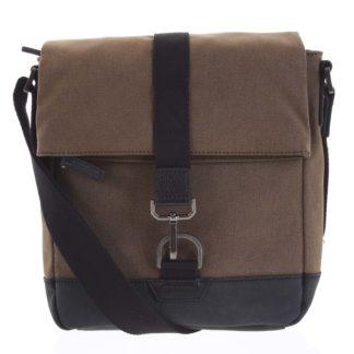 Pánská taška přes rameno hnědá - Hexagona Bennio hnědá