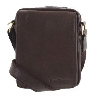 Pánská kožená taška tmavě hnědá - SendiDesign Merlim hnědá