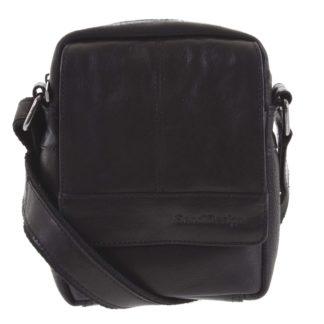 Pánská kožená crossbody taška na doklady černá - SendiDesign Niall černá
