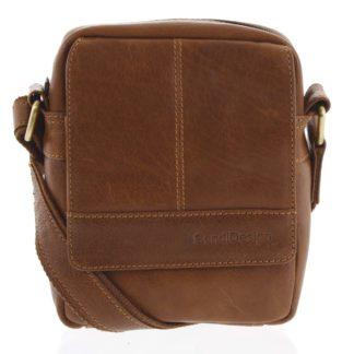 Pánská kožená crossbody taška na doklady hnědá - SendiDesign Niall hnědá