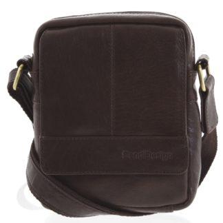 Pánská kožená crossbody taška na doklady tmavě hnědá - SendiDesign Niall hnědá