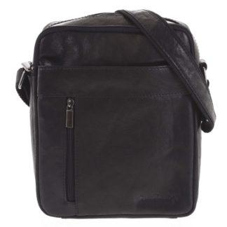Pánská kožená taška přes rameno černá - SendiDesign Lennon černá