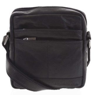 Pánská kožená taška černá - SendiDesign Shaper černá