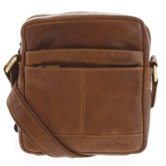 Pánská kožená taška hnědá - SendiDesign Shaper hnědá