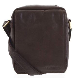 Pánská kožená taška tmavě hnědá - SendiDesign Lorem hnědá