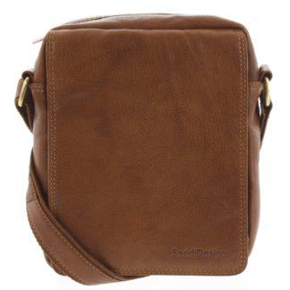 Pánská kožená taška hnědá - SendiDesign Lorem hnědá
