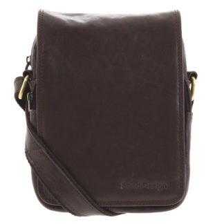 Pánská kožená taška přes rameno tmavě hnědá - SendiDesign Muxos hnědá