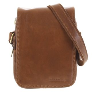Pánská kožená taška přes rameno hnědá - SendiDesign Muxos hnědá