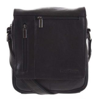 Pánská kožená taška přes rameno černá - SendiDesign Thoreau černá