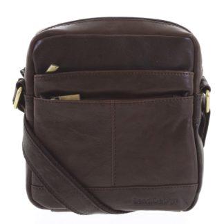Pánská kožená taška tmavě hnědá - SendiDesign Shaper hnědá