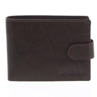 Pánská kožená peněženka tmavě hnědá - SendiDesign Mheo hnědá