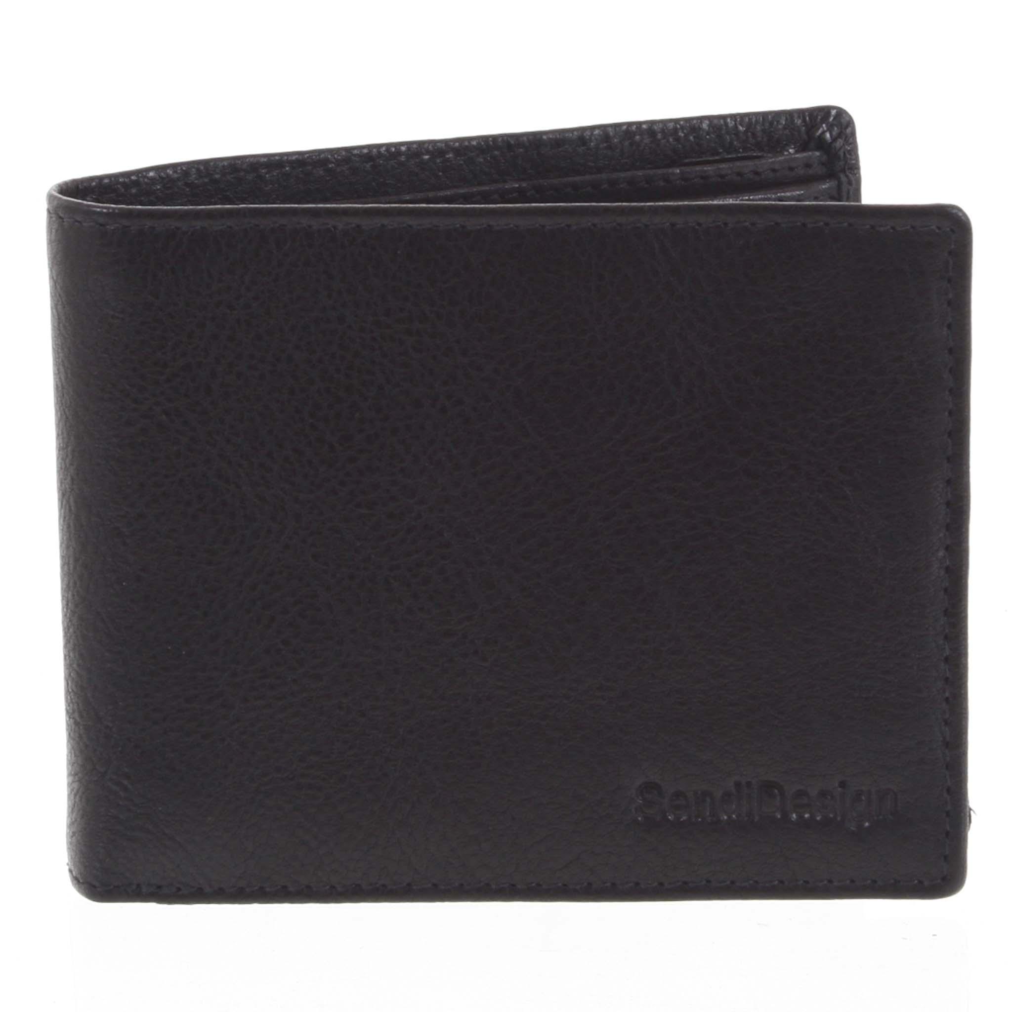 Pánská kožená peněženka černá - SendiDesign Maty černá