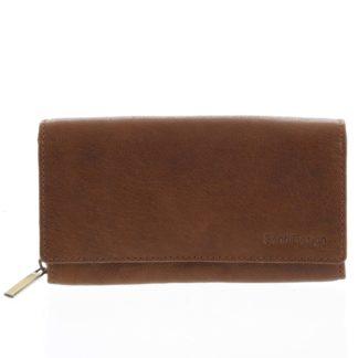 Dámská kožená  peněženka světle hnědá - SendiDesign Zimbie hnědá