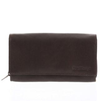 Dámská kožená  peněženka tmavě hnědá - SendiDesign Zimbie hnědá
