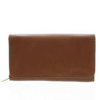 Dámská kožená peněženka světle hnědá - SendiDesign Really hnědá