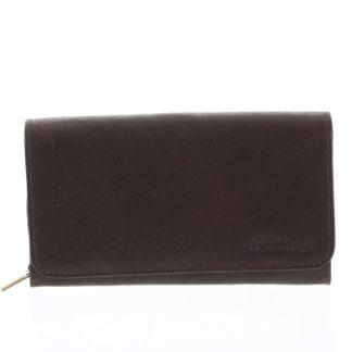 Dámská kožená peněženka tmavě hnědá - SendiDesign Really hnědá