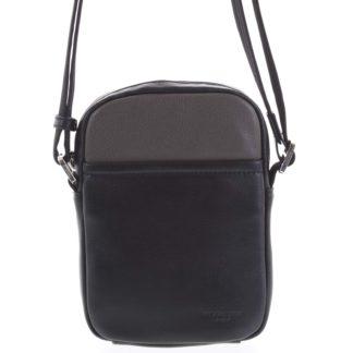 Pánská kožená taška na doklady taupe - Hexagona Yesterday černá