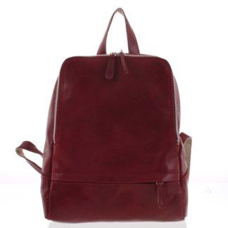 Dámský kožený batůžek červený - ItalY Zeus červená