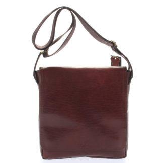 Hnědá elegantní crossbody kožená taška - Delami 1172 hnědá