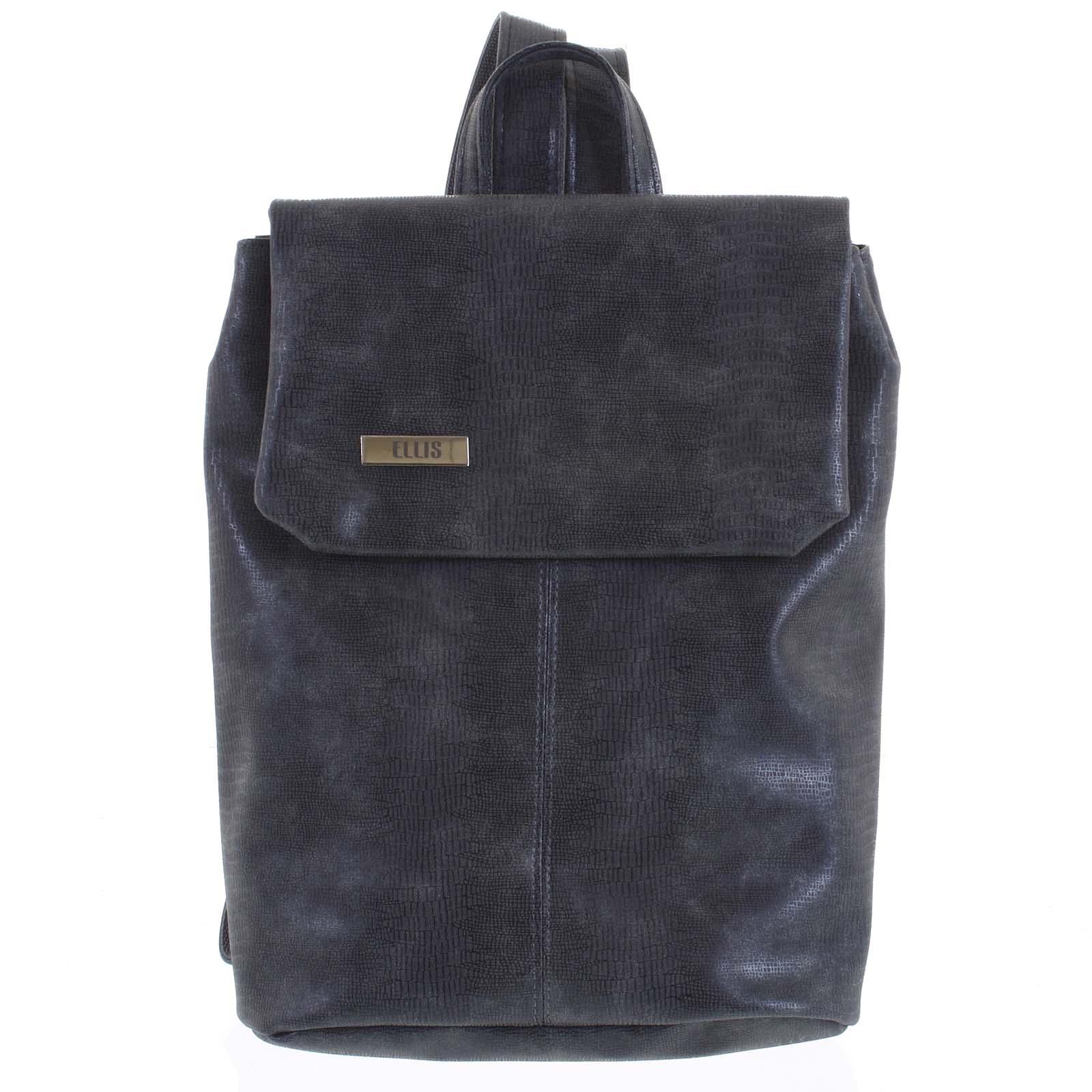 Větší měkký dámský moderní tmavě šedý batoh - Ellis Elizabeth  šedá
