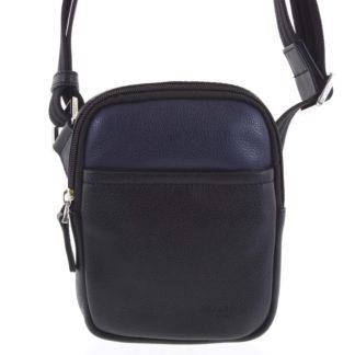 Pánská kožená taška na doklady černo modrá - Hexagona Monday modrá
