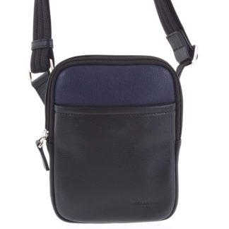 Pánská kožená taška na doklady černo modrá - Hexagona Tuesday modrá