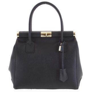 Luxusní dámská kožená kabelka do ruky černá - ItalY Hyla černá