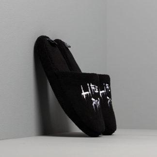 LIFE IS PORNO xxx Footshop House Slippers Black