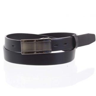 Pánský kožený opasek oblekový černý - PB Amon 95 černá