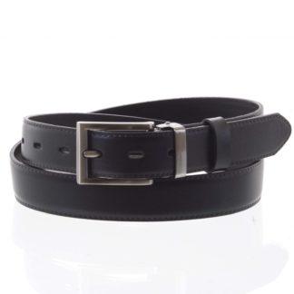 Pánský kožený opasek oblekový černý - PB Labim 95 černá