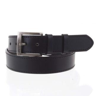 Pánský kožený opasek jeansový černý - PB Nacho 95 černá