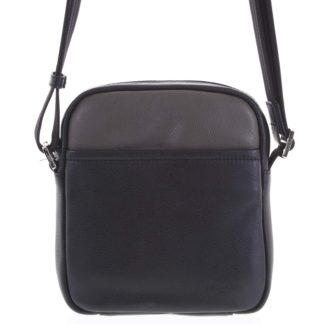 Pánská kožená taška na doklady černá taupe - Hexagona Thursday taupe