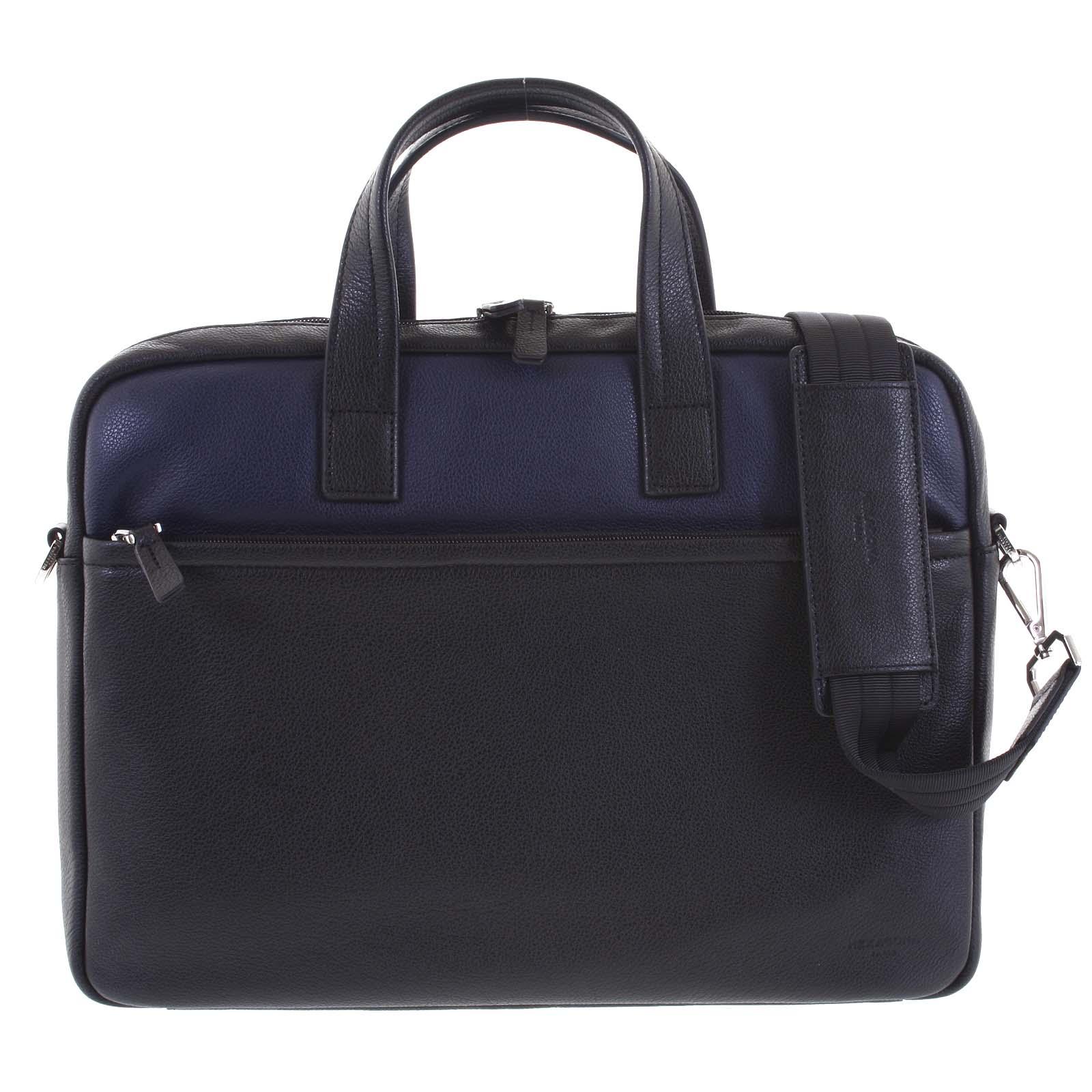 Luxusní pásnká kožená taška černo modrá - Hexagona Friday modrá