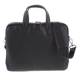 Luxusní kožená taška černá - Hexagona Saturday černá