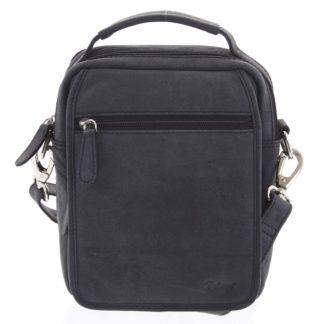 Pánská kožená taška přes rameno černá - Delami Gabo M černá