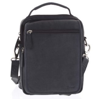 Pánská kožená taška přes rameno černá - Delami Gabo L černá