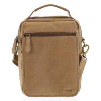 Pánská kožená taška přes rameno hnědá - Delami Gabo L hnědá