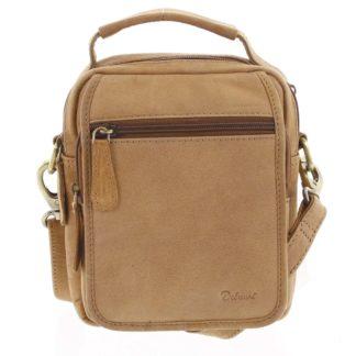 Pánská kožená taška přes rameno hnědá - Delami Gabo S hnědá