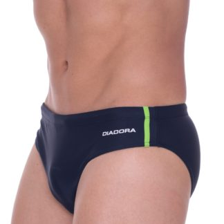 Pánské slipové plavky Diadora 71506 zel. proužek M Tm. modrá