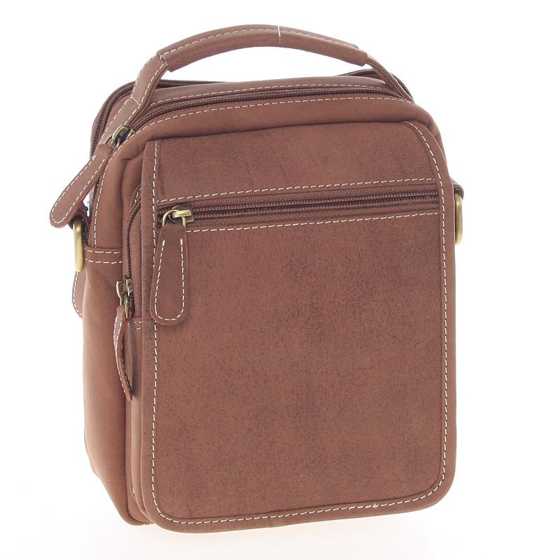 Hnědá kožená taška přes rameno SendiDesign Rico hnědá