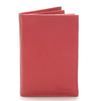 Kožená dokladovka červená - Delami 8220 červená