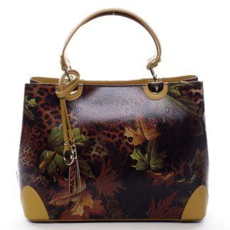 Originální dámská kožená kabelka podzimní žlutá - ItalY Mattie žlutá
