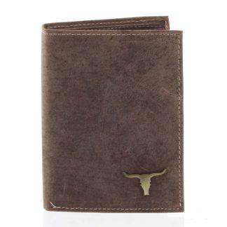 Pánská kožená peněženka camel - BUFFALO Dura Camel
