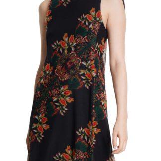 Desigual černé šaty Vest Papillon