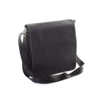 Černá kožená taška přes rameno Hexagona 299163 černá